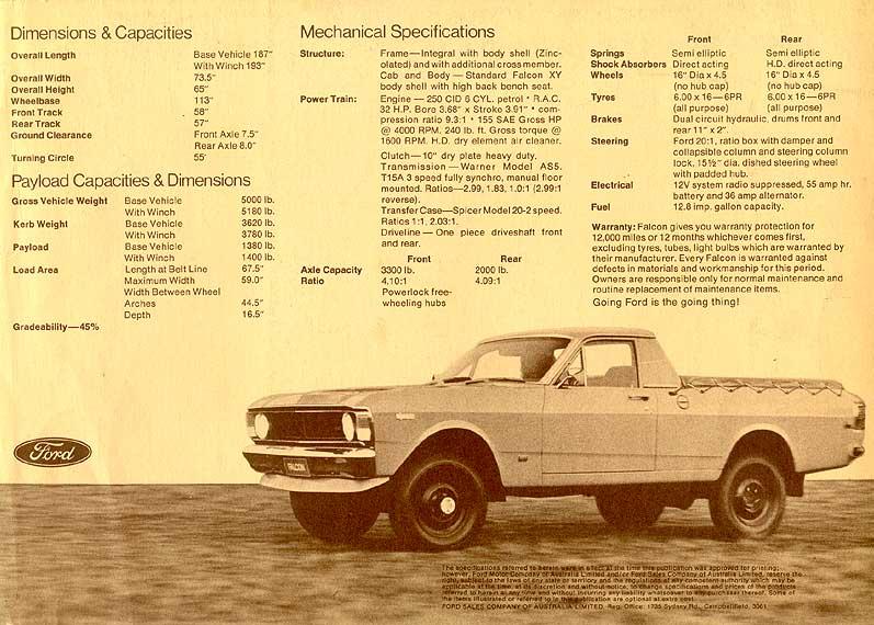 1970 1971 Xygt Falcon